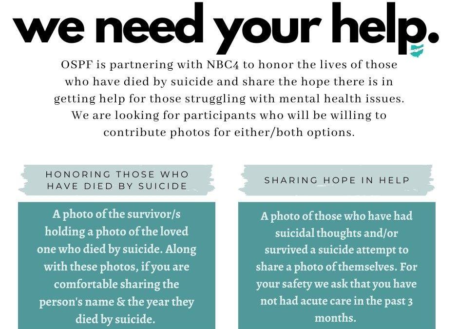 Suicide Survivors Wanted For Ohio Suicide Prevention Foundation Ad Campaign