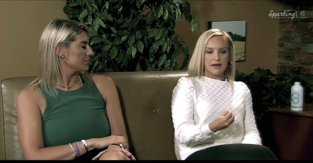 """Episode 9 of """"Sparking the Conversation,"""" featured mental health counselor Amy Bush and Sara Bennett, 33 Forever Board Member, discussing peripartum mental health issues."""